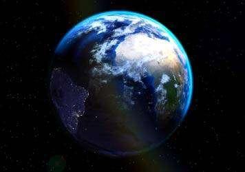 rendered globe