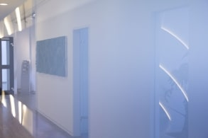 Blue Silver office hallway
